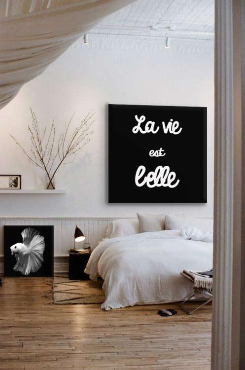 deco-chambre-design-tableau-noir-et-blanc-carré