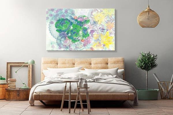 decoration-chambre-moderne-tableau-fleur-design