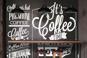 decoration-murale-design-pour-restaurant-avec-papier-peint-pause-cafe