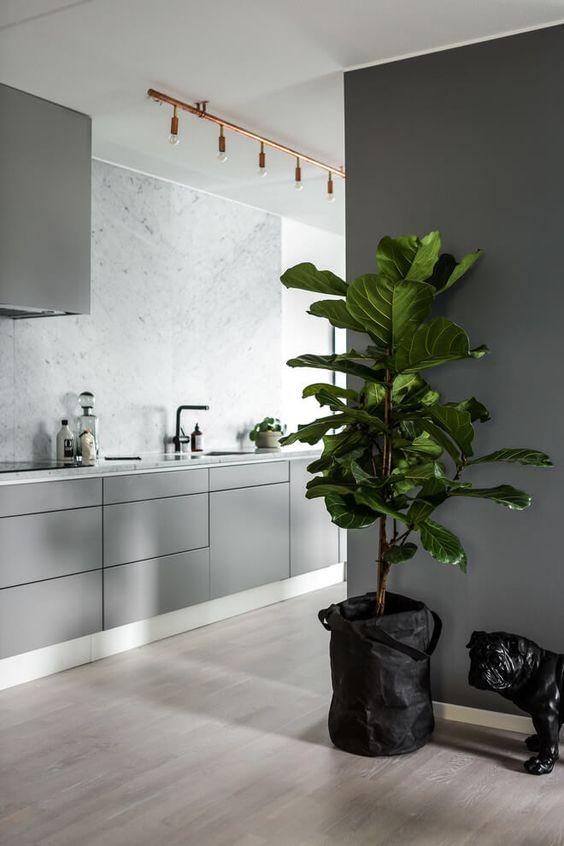 plante verte et statue pour déco stylée