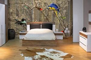 Papier peint chambre adulte bestiaire for Modele tapisserie chambre adulte