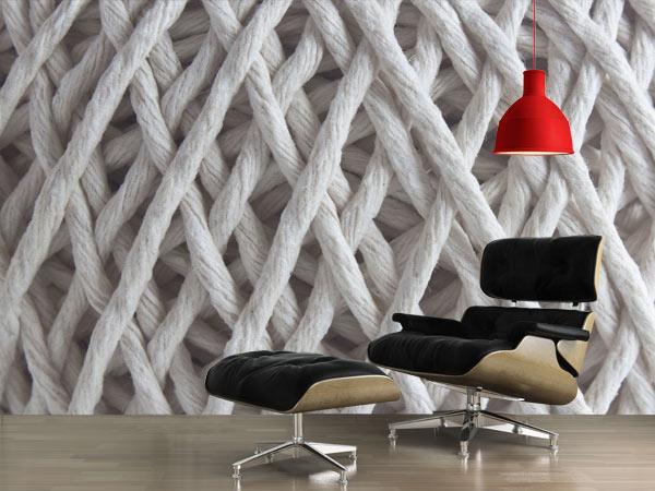 je craque pour un papier peint trompe l il texture. Black Bedroom Furniture Sets. Home Design Ideas