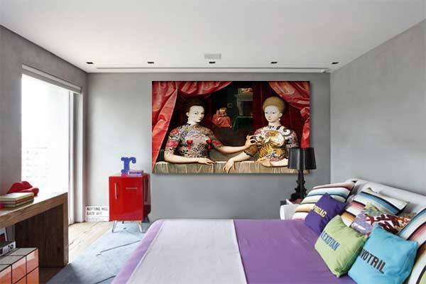 nouveau tableau contemporain original gabrielle d estr es. Black Bedroom Furniture Sets. Home Design Ideas