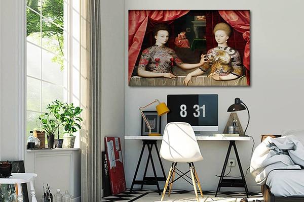 tableau contemporain original gabrielle estrees