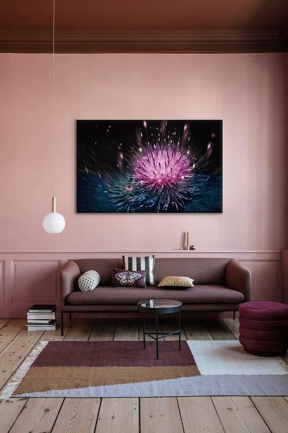 tableau-deco-salon-couleur-brun-rose