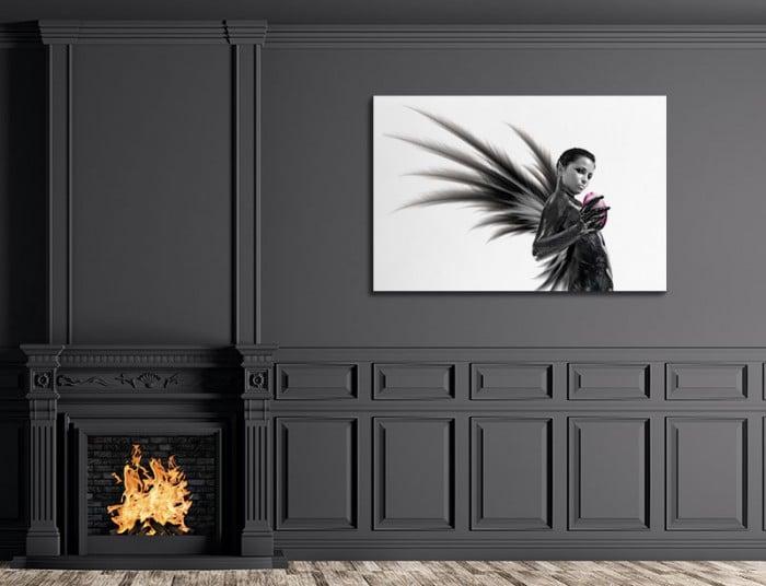 tableau-noir-et-blanc-halloween-demon