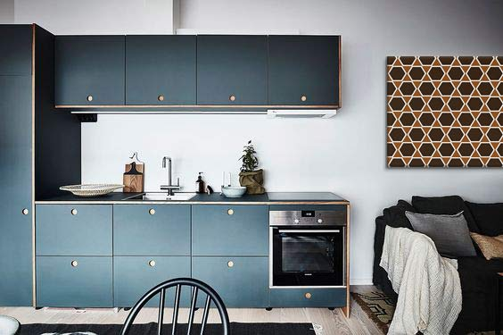 am nager et d corer une cuisine en longueur blog izoa. Black Bedroom Furniture Sets. Home Design Ideas