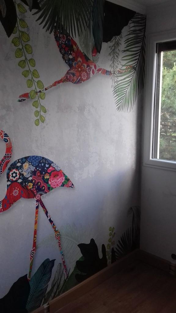 Pose d'un papier peint izoa