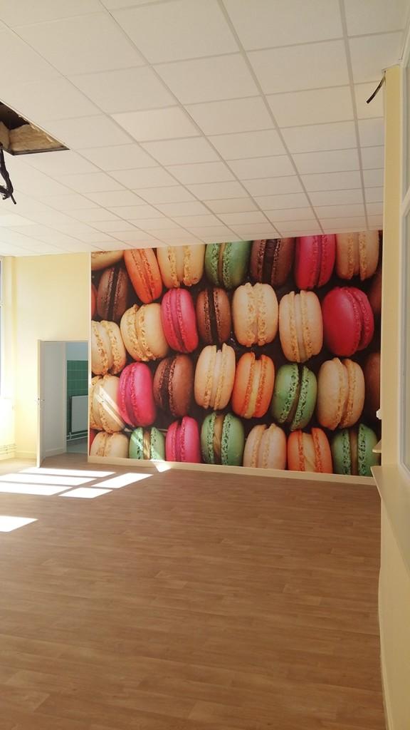décoration mur école papier peint izoa