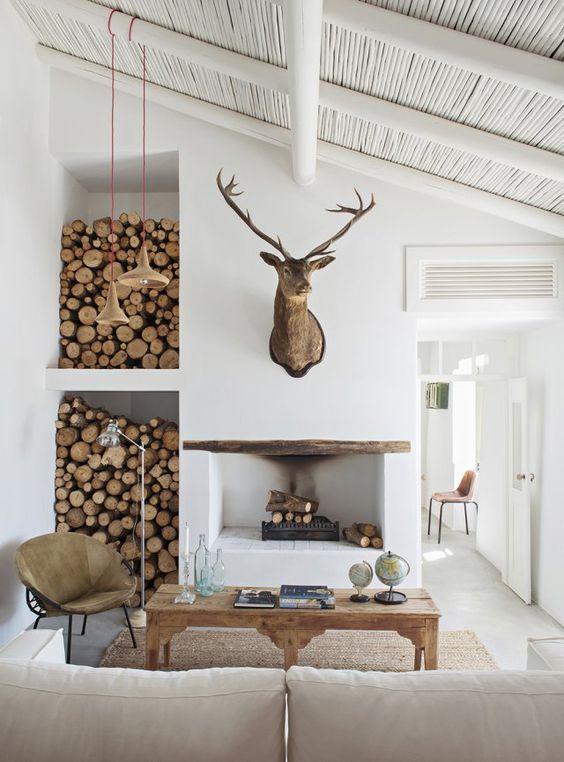 une chemin e pour un int rieur chaleureux et convivial. Black Bedroom Furniture Sets. Home Design Ideas