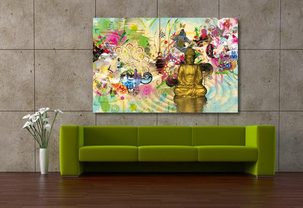 cadre décoratif mural méditation