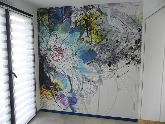 papier peint izoa Fleur Ethnique chez Lydie L