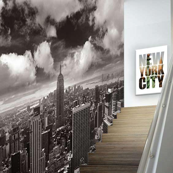 papier-peint-noir-et-blanc-new-york-izoa