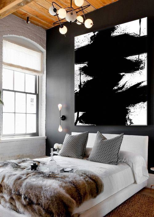 black attitude ma chambre noire blog toile design et. Black Bedroom Furniture Sets. Home Design Ideas