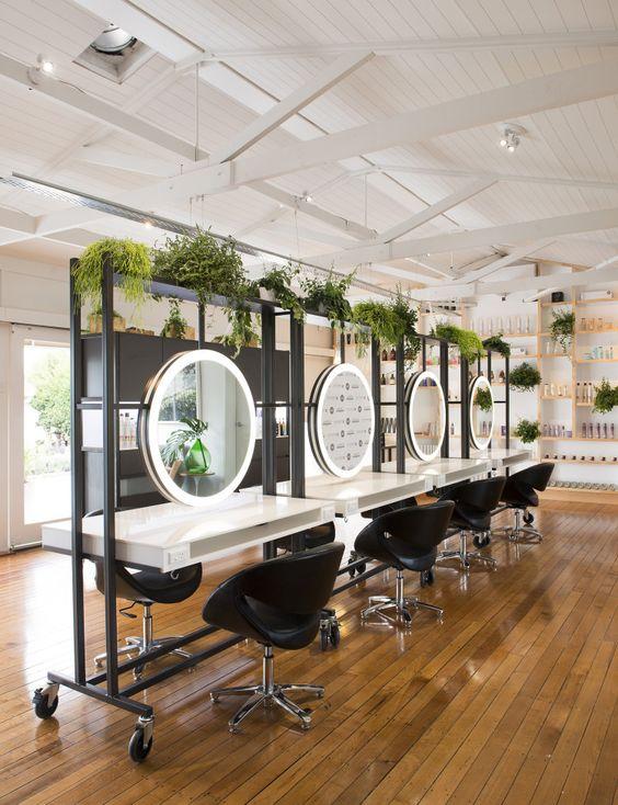 déco salon de coiffure thème végétal