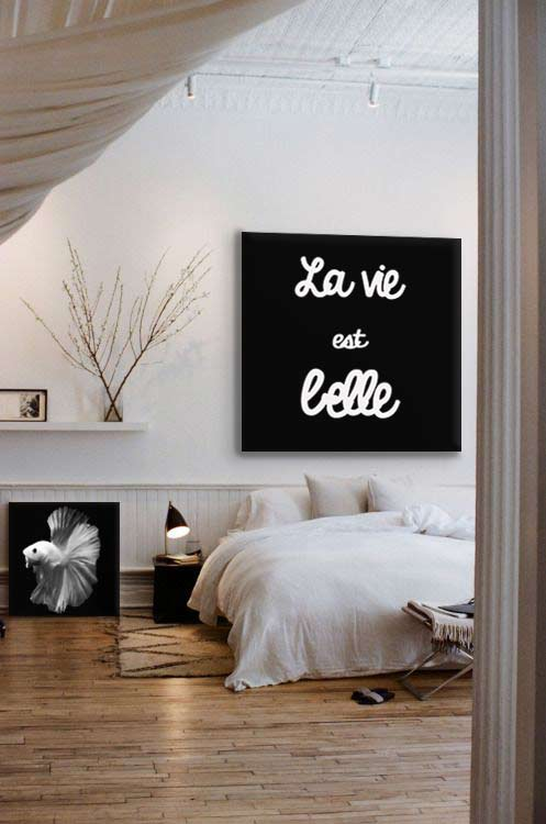 Emejing tableau noir et blanc chambre pictures awesome interior home satellite - Tableau noir et blanc ikea ...