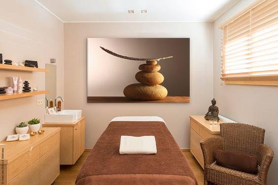 Décoration instituts de beauté zen. deco,salle,massage,zen ,tableau,grand,format