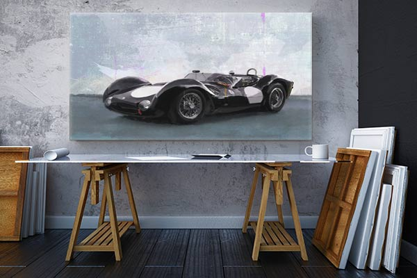 tableau original voiture maserati