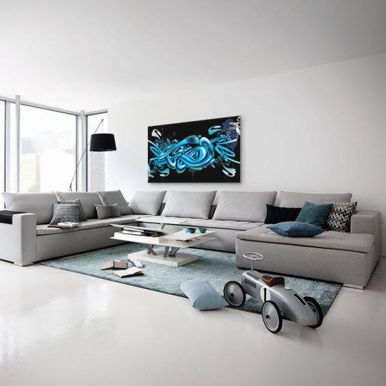 O poser un tableau grand format - Tableaux modernes pour salon ...