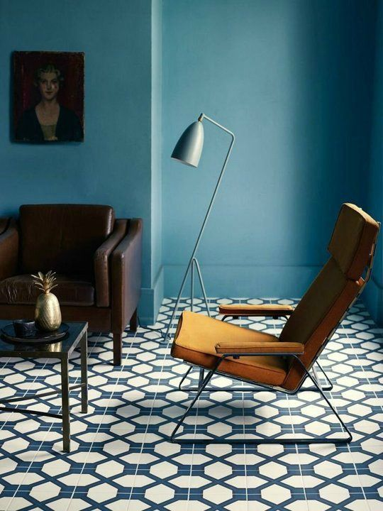 deco salon bleu canard