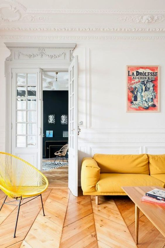 deco salon jaune