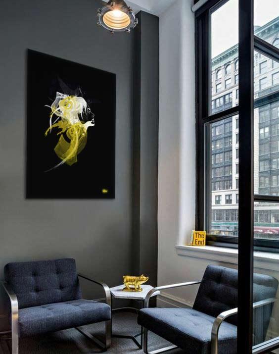 decoration-salle-attente-mur-gris-tableau-original-izoa