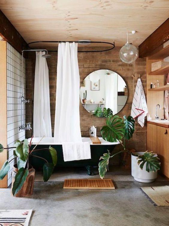salle de bain déco tropicale