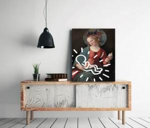 tableau-contemporain-graphique-izoa-madonne-keith-haring