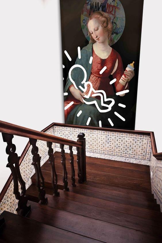 tableau-grand-format-deco-cage-escalier