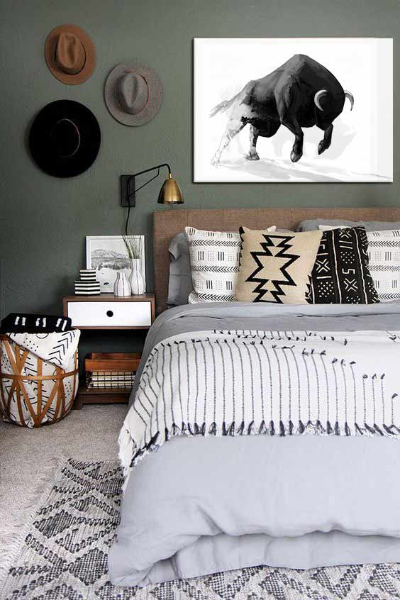 d coration de chambre style boh me. Black Bedroom Furniture Sets. Home Design Ideas