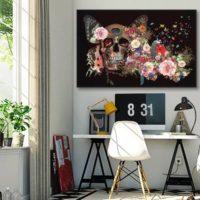 Nouveauté toile originale et moderne et papier peint Izoa