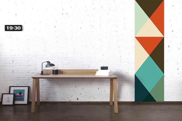 lé de papier peint formes géométriques izoa