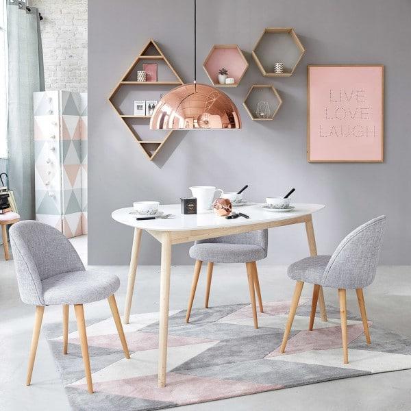 décor salle à manger formes géométriques