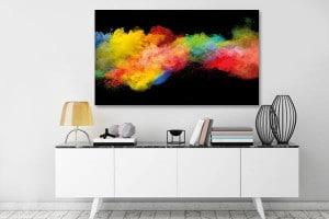 tableau abstrait izoa festival de couleurs