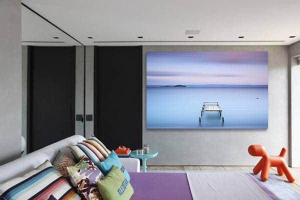 cadre déco chambre paysage zen