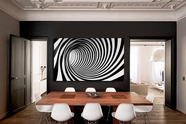 tableau moderne noir et blanc abstrait izoa