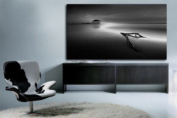 tableau izoa noir et blanc paysage