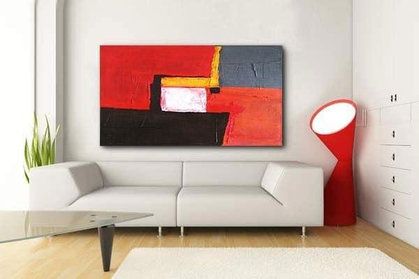 tableau abstrait moderne Izoa