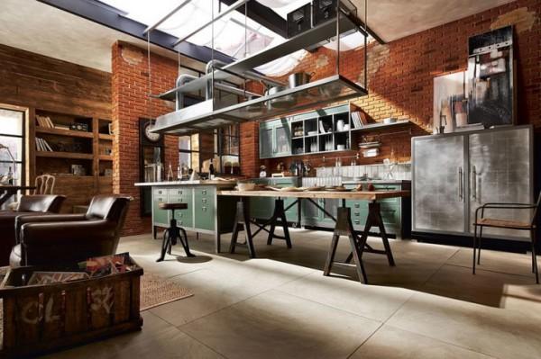déco cuisine moderne industrielle
