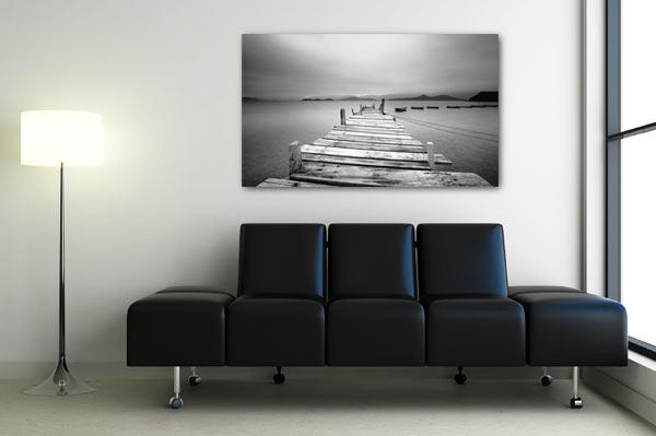 tableau photo noir et blanc paysage