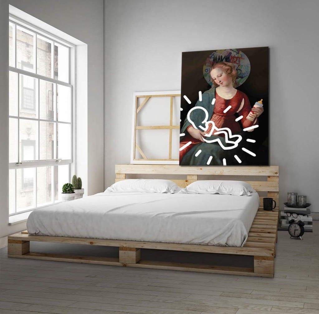 chambre blanche toile déco originale izoa