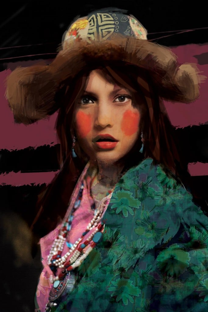 tableau izoa femme Ethnique