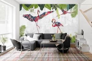papier peint izoa Flamenco Patchwork
