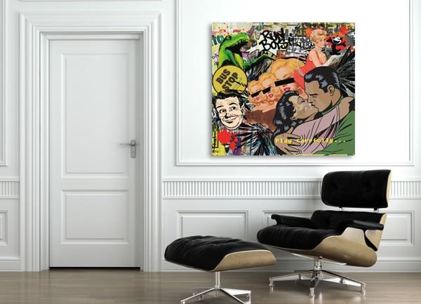 toile imprimée pop art