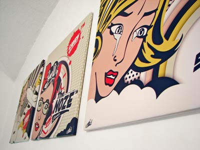 pop art mural izoa