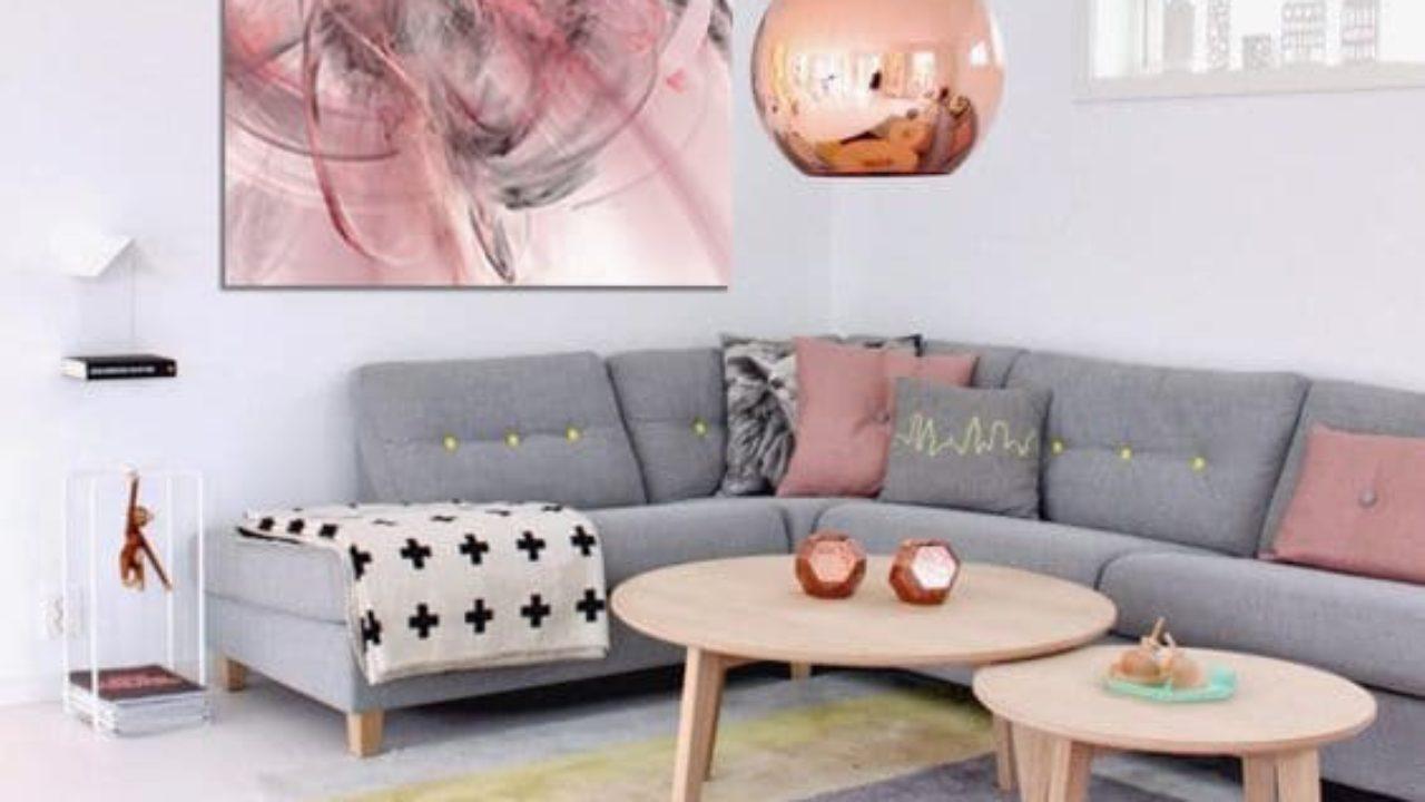 Deco Salon Rose Poudré Et Gris des couleurs pastel dans mon salon - blog izoa