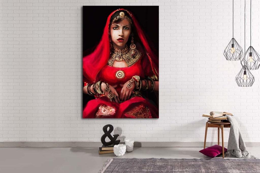 Toile déco izoa femme indienne