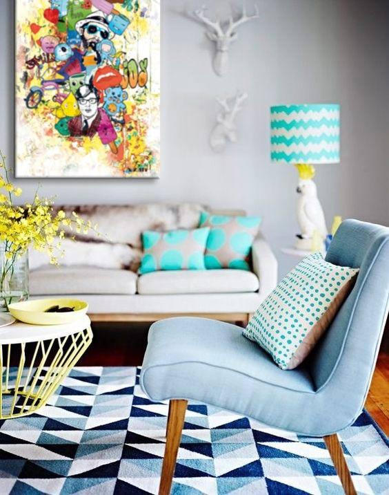 déco moderne tableau coloré izoa