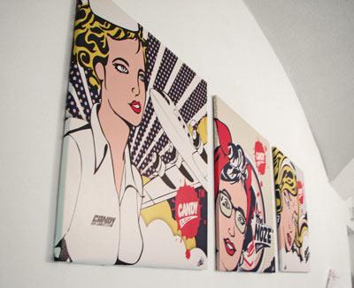 tableau triptyque pop art izoa