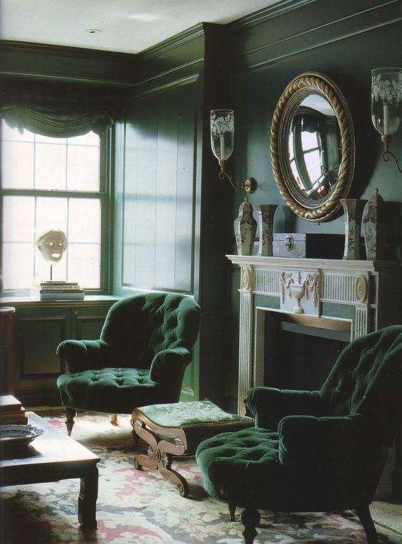 le vert couleur intense et élégante